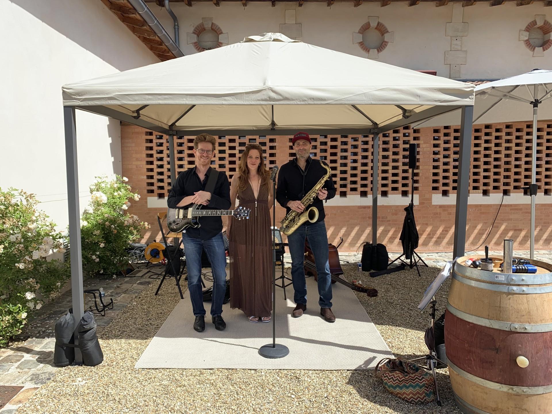 Trio Jazz chateau Malleret